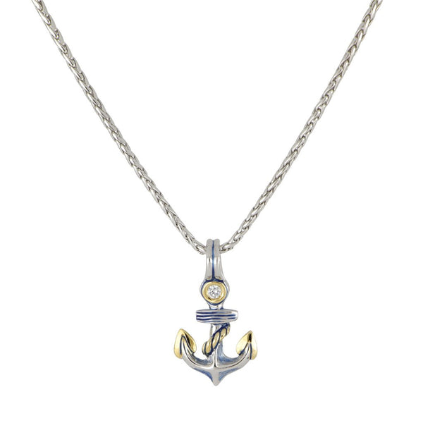 John Medeiros Anchor Necklace