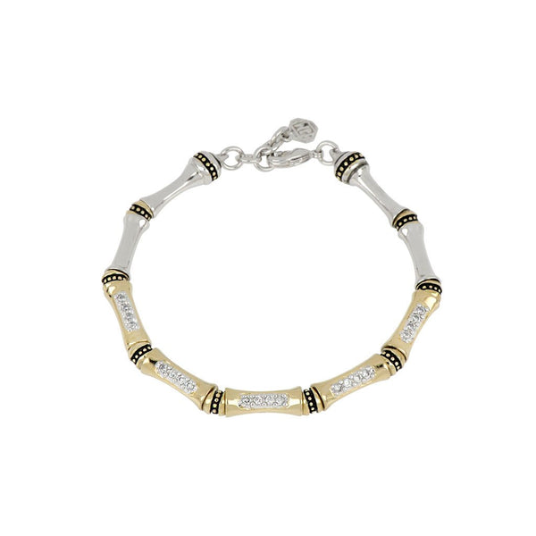 John Medeiros Canais Pave Single Row Bracelet