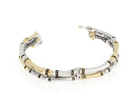 John Medeiros Double Row Hinged Bangle