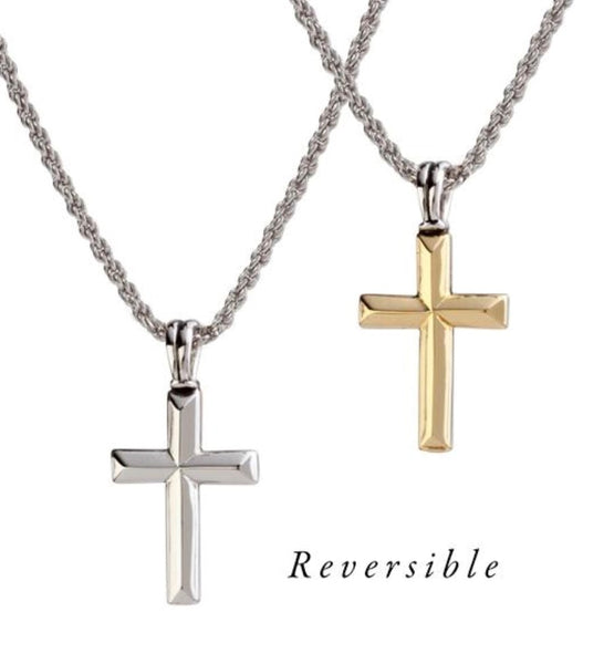 John Medeiros Reversible Cross Necklace