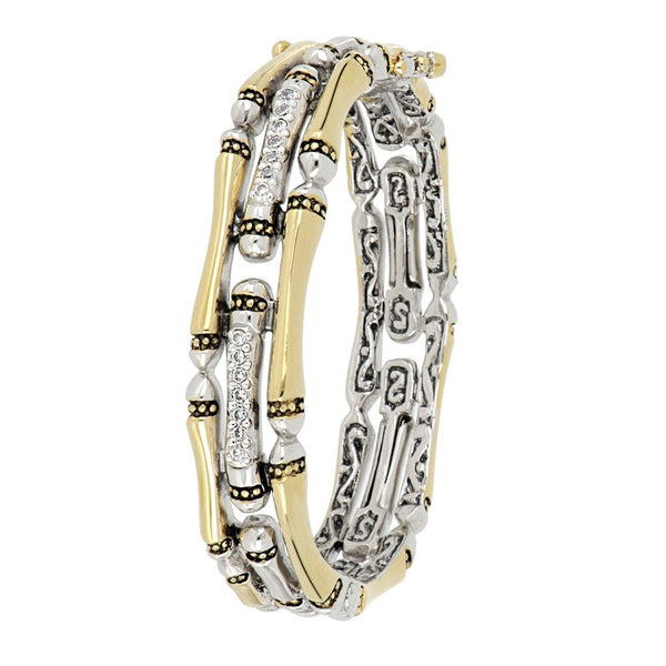 John Medeiros Pave Hinged Bangle