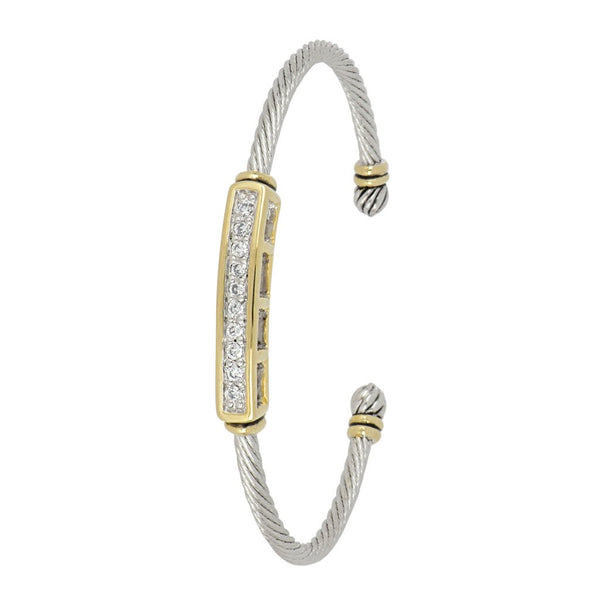 John Medeiros Celebration Petite Pave Bar Cuff