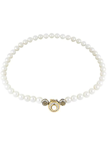 John Medeiros Pave Pearl Strand Necklace