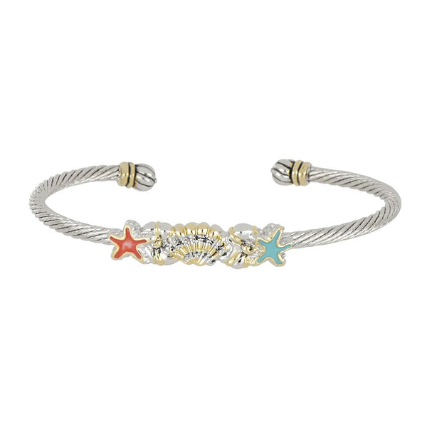John Medeiros Caraiba Collection Starfish & Shell Cuff