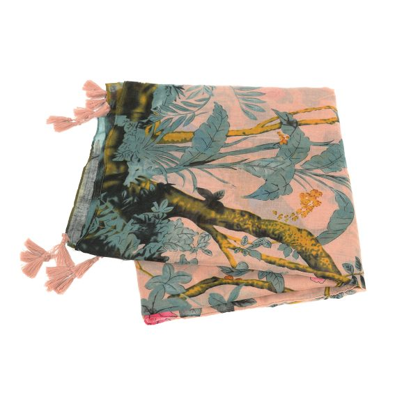Lilac Birds of Paradise Scarf