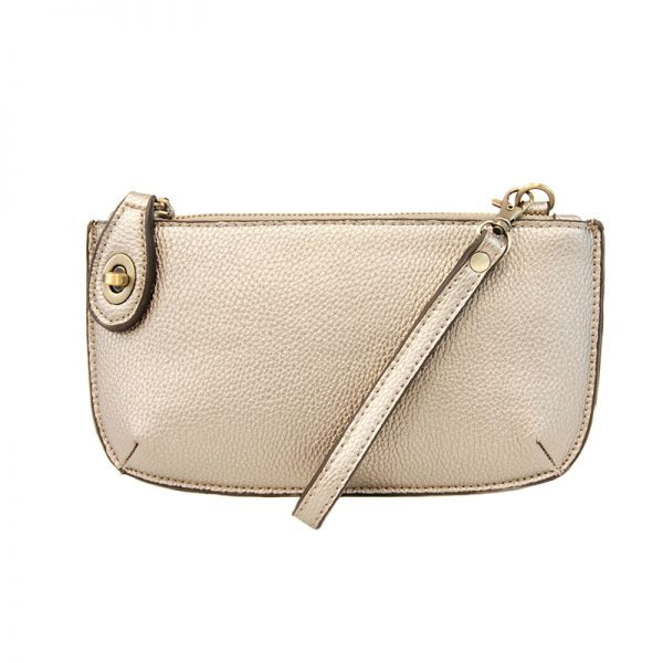 Joy Susan Mini Crossbody Wristlet Metalic Pearl
