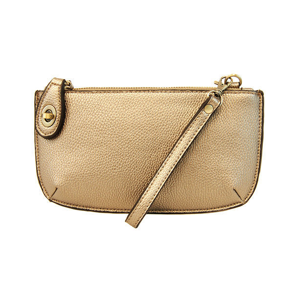 Joy Susan Mini Crossbody Wristlet Metalic Gold