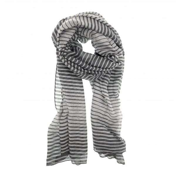 Grey Optic Stripe Scarf