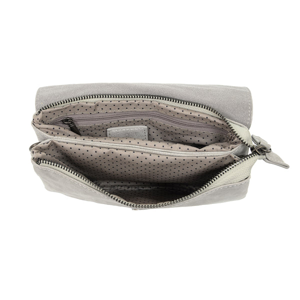 Joy Susan Vanessa Crossbody Pale Grey