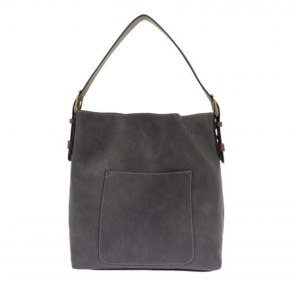 Joy Susan Classic Hobo Handbag Slate/Coffee