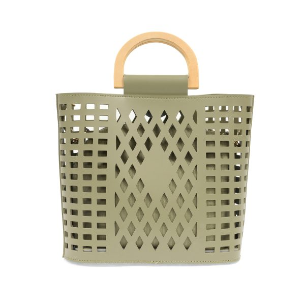 Joy Susan Madison Cut Out Tote Sage
