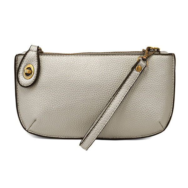Joy Susan Mini Crossbody Wristlet New Silver