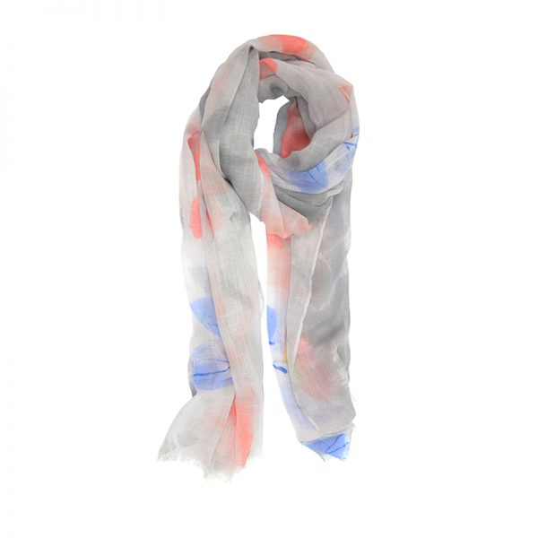 Pink Painterly Floral Scarf