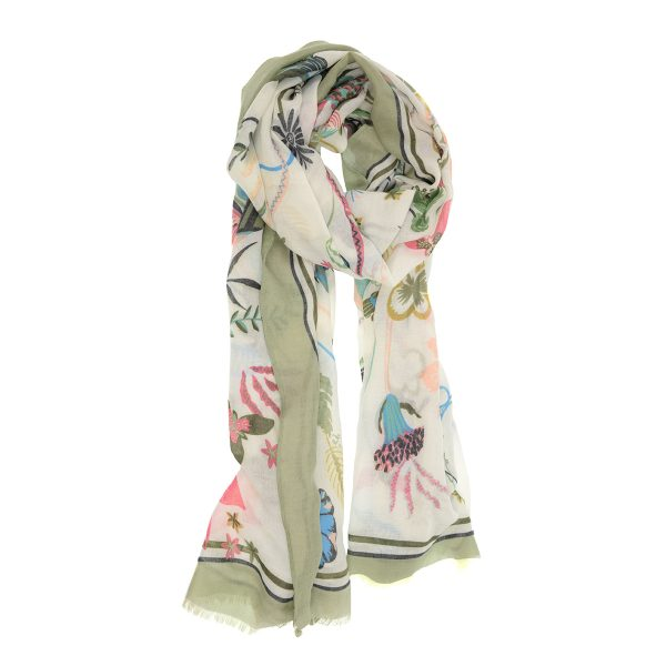 Sage Bright Blooms Scarf