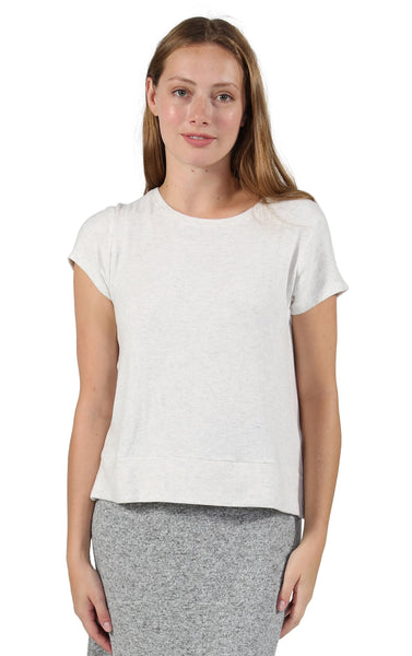 Comfort Collection Cap Sleeve T Oatmeal