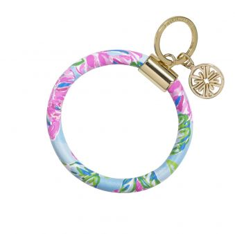 Lilly Pulitzer Round Key Chain Totally Blossom