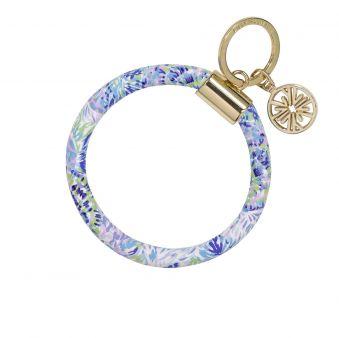 Lilly Pulitzer Round Key Chain Shell of a Party