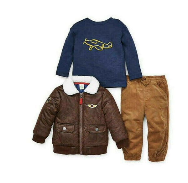 Little Me 3pc Aviator Jacket Set