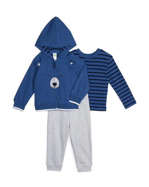 Little Me Bear Hoodie 3pc Set