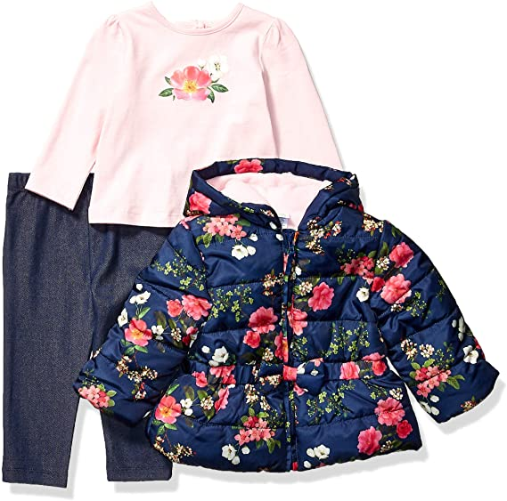 Little Me Floral Jacket 3pc Set
