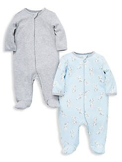 Little Me Blue Puppy Footie 2pc Set
