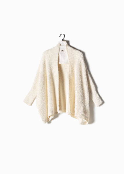 Eyelash Cape Cardigan Ivory