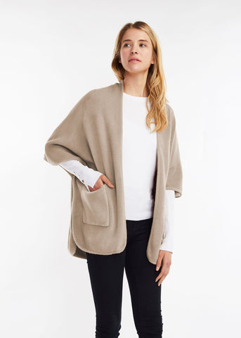 Basic Cape Poncho Tan