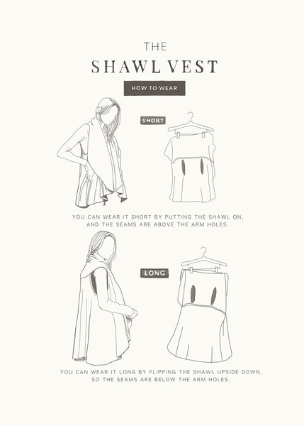 Basic Shawl Vest Cream