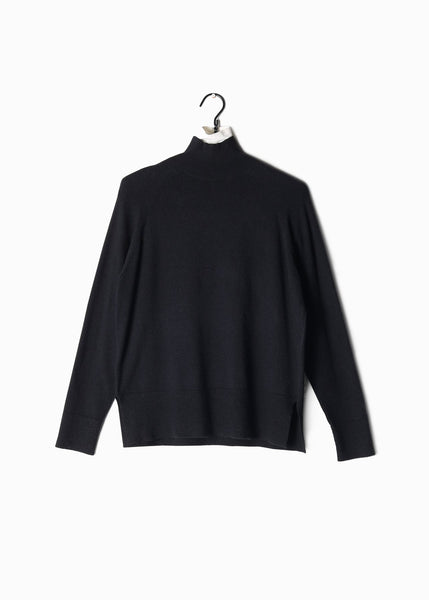 Basic Mockneck Sweater Black