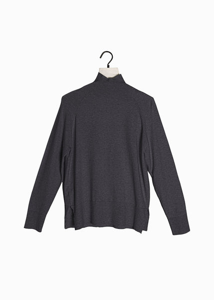 Basic Mockneck Sweater Charcoal