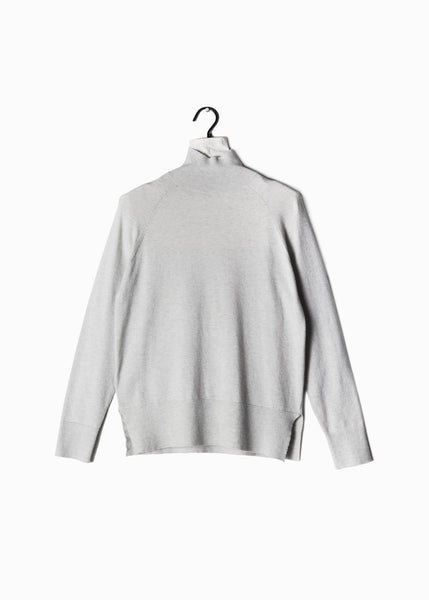 Basic Mockneck Sweater Light Grey