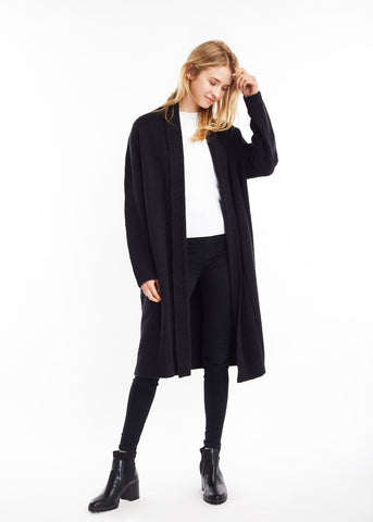 Heather Shawl Collar Cardigan Black