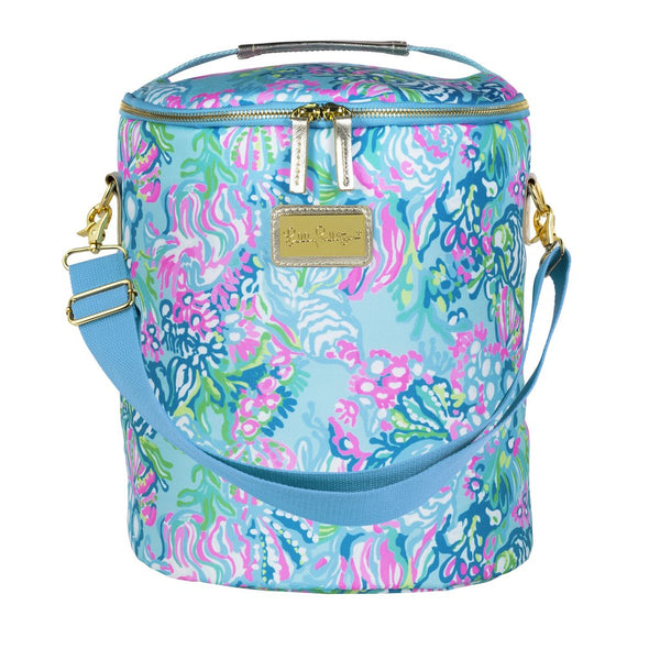 Lilly Pulitzer Beach Cooler Aqua La Vista
