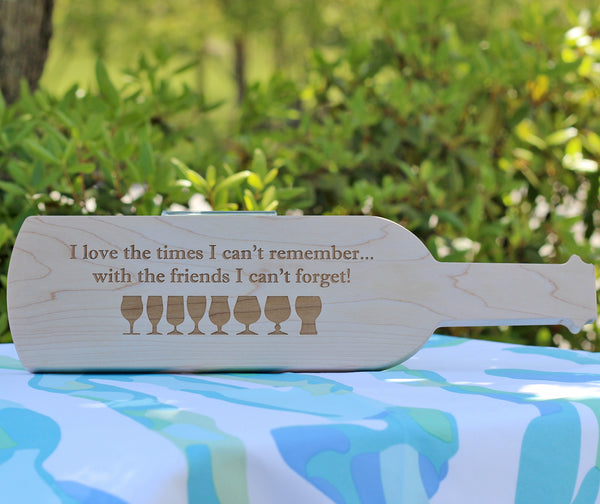 "Friends 15""Cutting Board-Wine Bottle Shape"