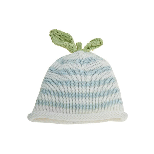 Blue Knit Pea Pod Hat