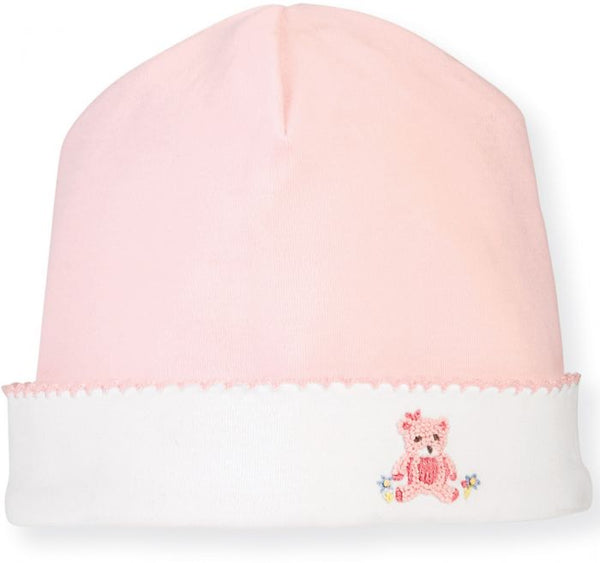 Pink Bear Baby Hat