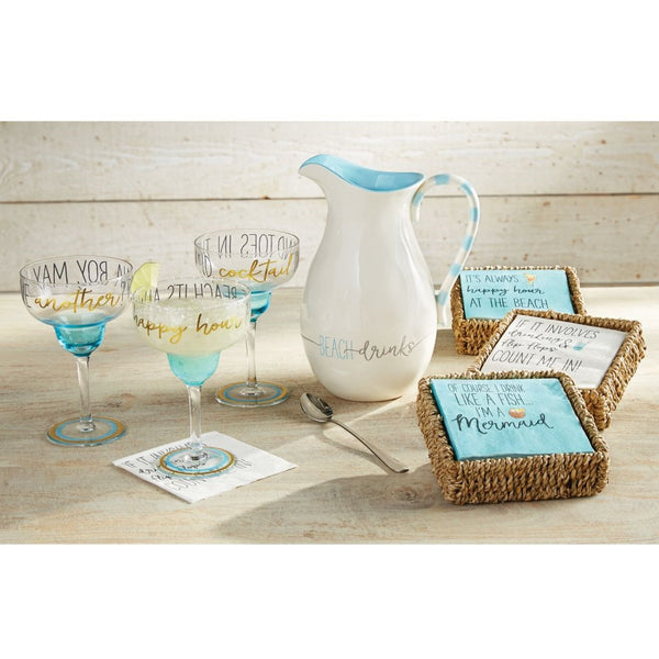 Happy Hour Basket/Napkin Set