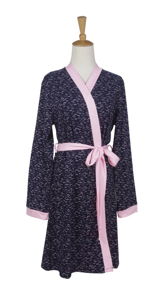 Navy Dot Robe