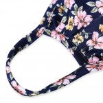 Navy Floral Adult Face Mask