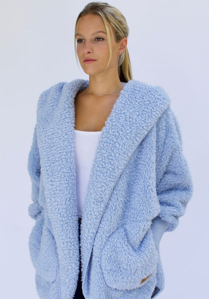 Nordic Beach Wrap Cardigan Cashmere Blue