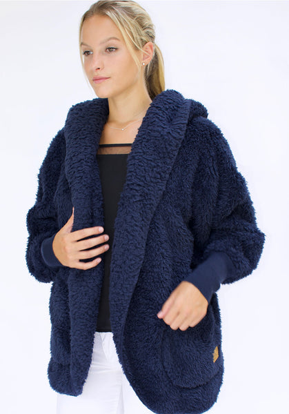 Nordic Beach Wrap Cardigan Midnight