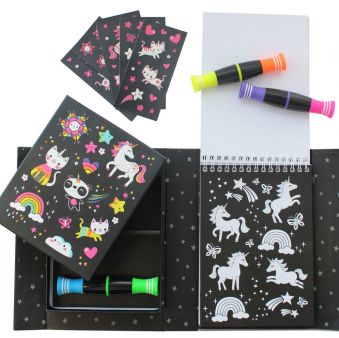 Neon Unicorn & Friends Coloring Set