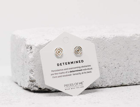 Pieces of Me - Determined Stud Earrings in Silver