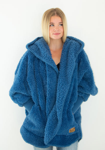 Nordic Beach Wrap Cardigan Blue Bird