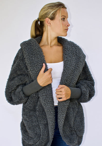 Nordic Beach Wrap Cardigan Koala Grey