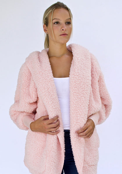 Nordic Beach Wrap Cardigan Pink Heaven