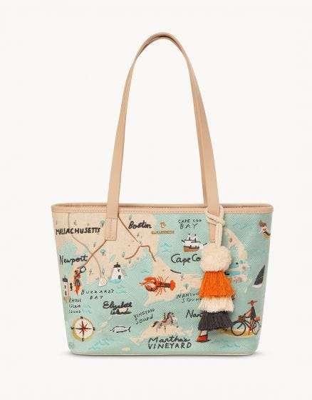 Spartina Northeaster Harbor Embroidered Tote