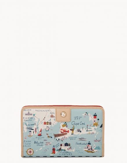 Spartina Northeastern Harbor Snap Wallet
