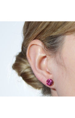 JoJo Mini Bling Earrings Pink