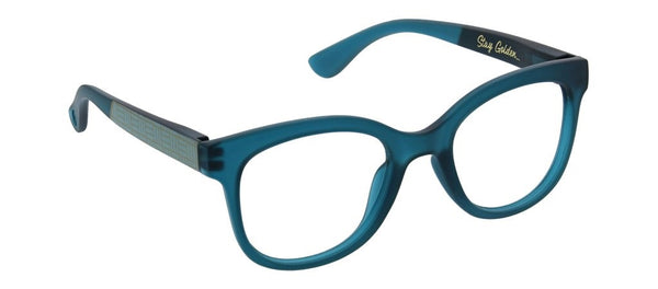 Peepers Brocade Blue Light Reading Glasses Teal